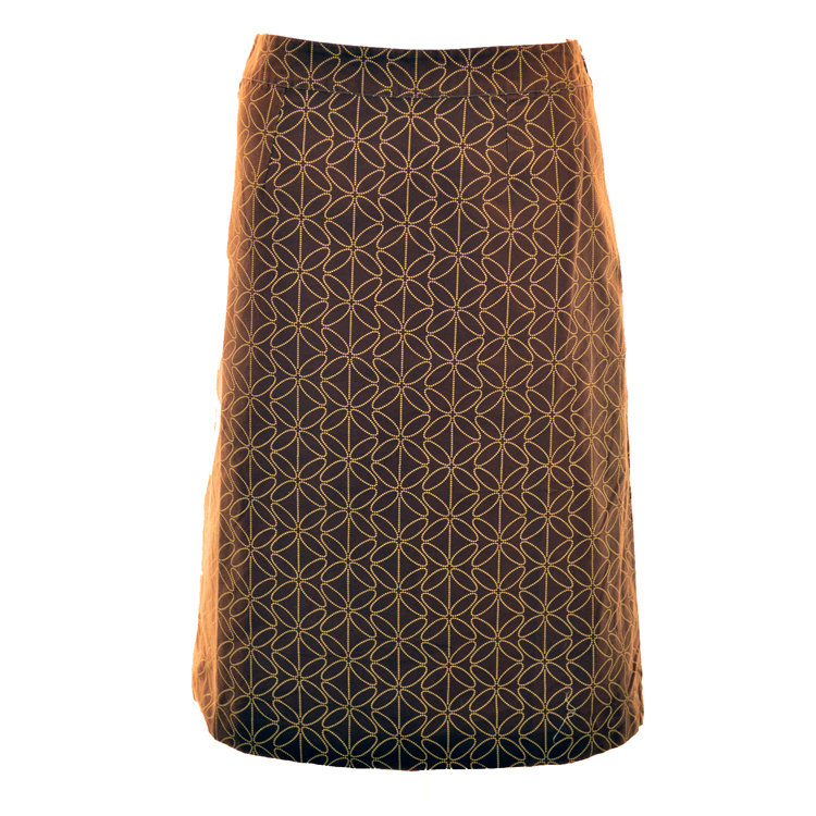 new boden brown geometric vintage a line skirt size 8